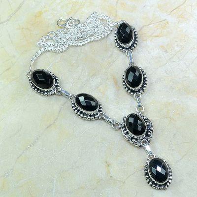On 0416a collier sautoir onyx noir parure bijou 1900 art deco achat vente