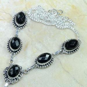 On 0416b collier sautoir onyx noir parure bijou 1900 art deco achat vente