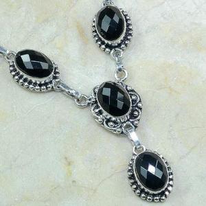 On 0416c collier sautoir onyx noir parure bijou 1900 art deco achat vente