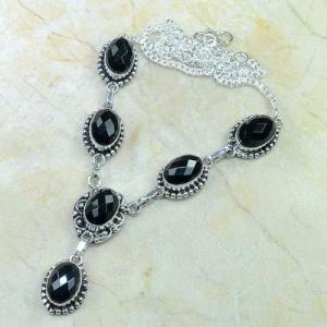 On 0416d collier sautoir onyx noir parure bijou 1900 art deco achat vente