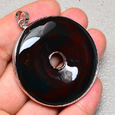 On 0426a pendant pendentif onyx noir argent 925 achat vente bijou