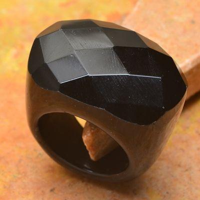 On 0427a bague 58 gemme onyx noir bijou 1900 art deco achat vente