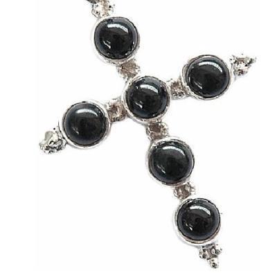 On 0459c croix pendentif pendant onyx noir achat vente bijou argent 925