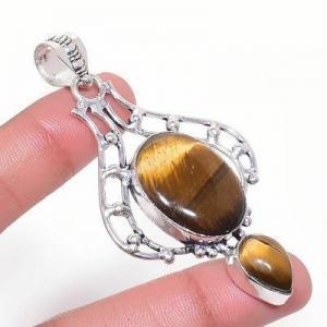 Ot 1010a pendentif pendant 14gr 18x22mm oeil de tigre argent 925 achat vente bijoux 1 1