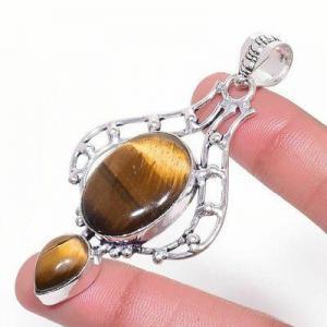 Ot 1010b pendentif pendant 14gr 18x22mm oeil de tigre argent 925 achat vente bijoux 1 1