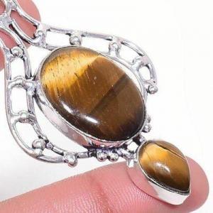 Ot 1010c pendentif pendant 14gr 18x22mm oeil de tigre argent 925 achat vente bijoux 1 1