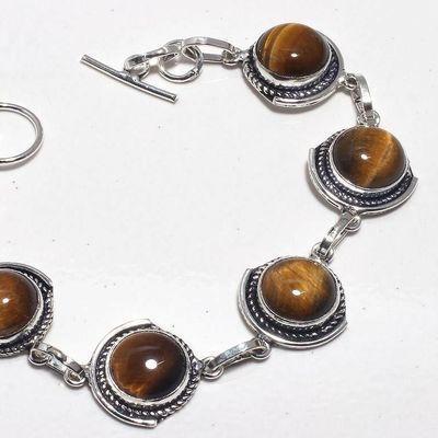 Ot 1013b bracelet oeil de tigre 19gr argent 925 achat vente bijoux ethnique 1 1