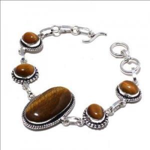 Ot 1015a bracelet oeil de tigre 20gr argent 925 achat vente bijoux ethnique 1 1
