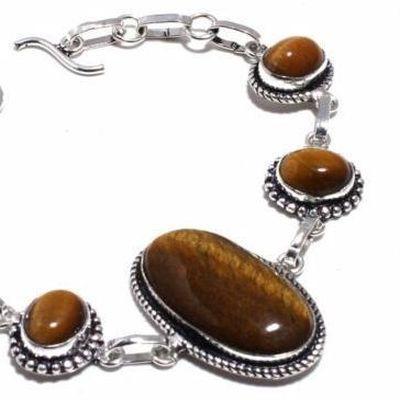 Ot 1015b bracelet oeil de tigre 20gr argent 925 achat vente bijoux ethnique 1 1