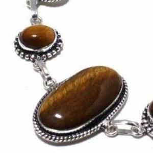 Ot 1015c bracelet oeil de tigre 20gr argent 925 achat vente bijoux ethnique 1 1