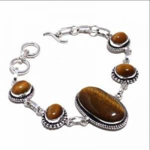 Ot 1015d bracelet oeil de tigre 20gr argent 925 achat vente bijoux ethnique 1 1