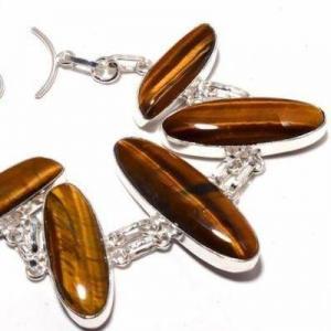 Ot 1016b bracelet oeil de tigre 31gr 10x40mm argent 925 achat vente bijoux ethnique 1 1