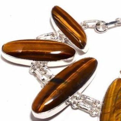 Ot 1016c bracelet oeil de tigre 31gr 10x40mm argent 925 achat vente bijoux ethnique 1 1