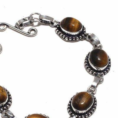 Ot 1028b bracelet oeil de tigre 17gr 8x12argent 925 achat vente bijoux ethnique 1 1