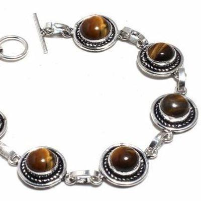 Ot 1036b bracelet oeil de tigre 18gr 10mm argent 925 achat vente bijoux ethnique 1 1