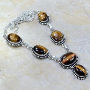 Ot 7811a collier parure sautoir oeil de tigre argent 925 achat vente bijoux