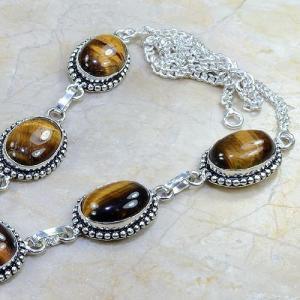 Ot 7811b collier parure sautoir oeil de tigre argent 925 achat vente bijoux