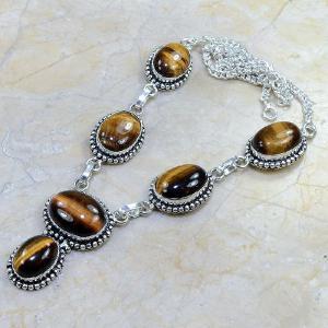 Ot 7811d collier parure sautoir oeil de tigre argent 925 achat vente bijoux