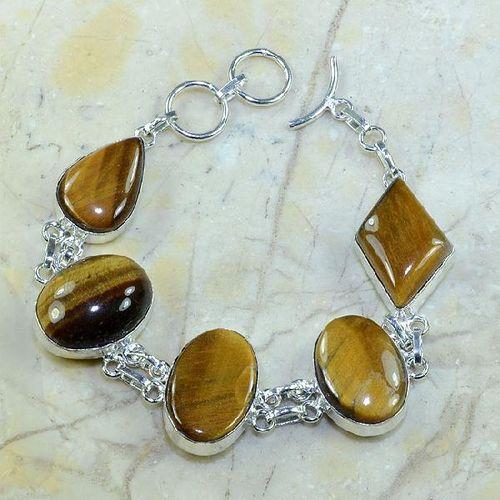 Ot 7814a bracelet oeil de tigre achat vente bijoux argent 925