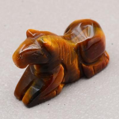 Ot 7816b cheval oeil de tigre sculpte porte bonheur achat vente bijoux