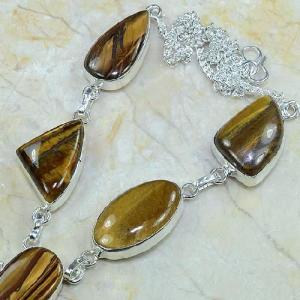 Ot 7818b collier parure sautoir oeil de tigre argent 925 achat vente bijoux