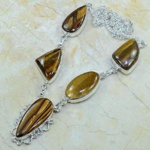 Ot 7818d collier parure sautoir oeil de tigre argent 925 achat vente bijoux