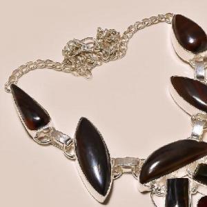 Ot 7825c collier parure sautoir oeil de tigre argent 925 achat vente bijoux
