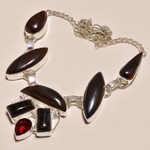 Ot 7825d collier parure sautoir oeil de tigre argent 925 achat vente bijoux