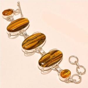 Ot 7831a bracelet oeil de tigre citrine argent 925 achat vente bijoux 2