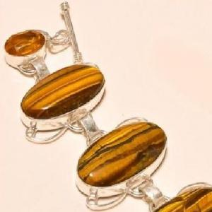 Ot 7831c bracelet oeil de tigre citrine argent 925 achat vente bijoux