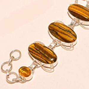 Ot 7831d bracelet oeil de tigre citrine argent 925 achat vente bijoux