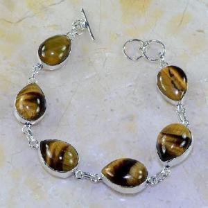 Ot 7835a bracelet oeil de tigre argent 925 achat vente bijoux