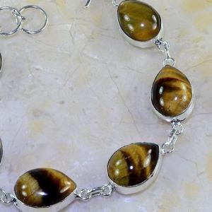 Ot 7835b bracelet oeil de tigre argent 925 achat vente bijoux