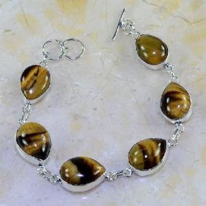 Ot 7835d bracelet oeil de tigre argent 925 achat vente bijoux