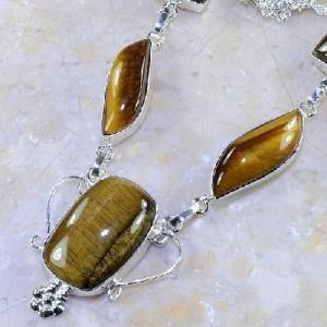Ot 7844b collier parure sautoir oeil de tigre argent 925 achat vente bijoux