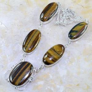 Ot 7845d collier parure sautoir oeil de tigre argent 925 achat vente bijoux