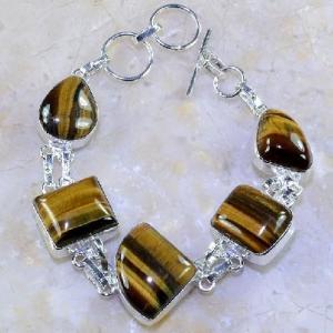 Ot 7847a bracelet oeil de tigre argent 925 achat vente bijoux