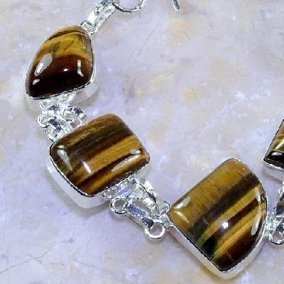 Ot 7847b bracelet oeil de tigre argent 925 achat vente bijoux
