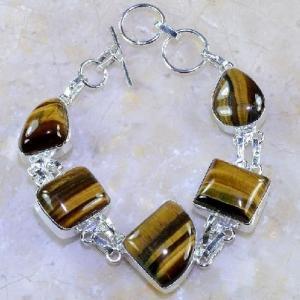 Ot 7847d bracelet oeil de tigre argent 925 achat vente bijoux