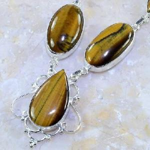 Ot 7848b collier parure sautoir oeil de tigre argent 925 achat vente bijoux