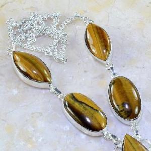 Ot 7848c collier parure sautoir oeil de tigre argent 925 achat vente bijoux