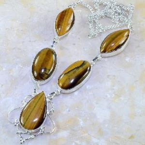 Ot 7848d collier parure sautoir oeil de tigre argent 925 achat vente bijoux