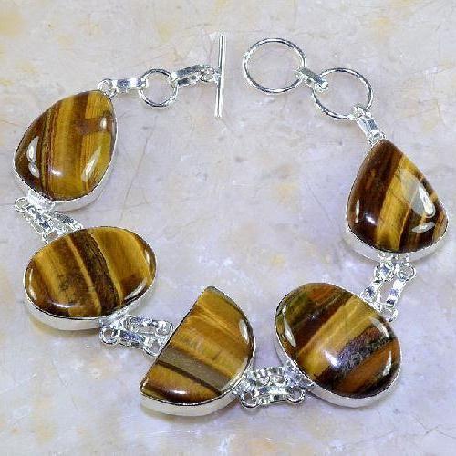 Ot 7851a bracelet oeil de tigre argent 925 achat vente bijoux