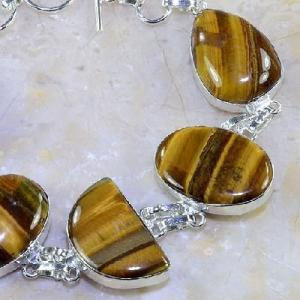 Ot 7851b bracelet oeil de tigre argent 925 achat vente bijoux