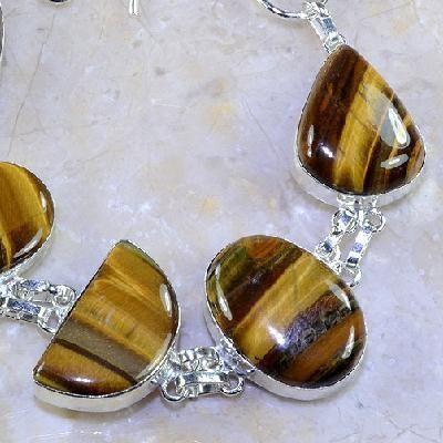 Ot 7851c bracelet oeil de tigre argent 925 achat vente bijoux