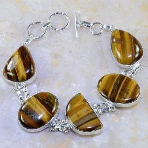 Ot 7851d bracelet oeil de tigre argent 925 achat vente bijoux