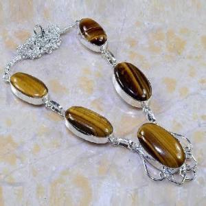 Ot 7852a collier parure sautoir oeil de tigre argent 925 achat vente bijoux