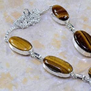 Ot 7852c collier parure sautoir oeil de tigre argent 925 achat vente bijoux