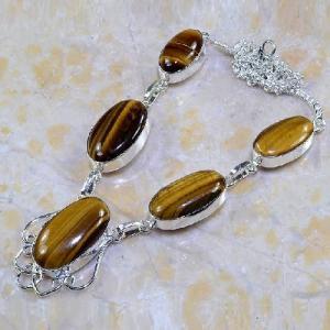 Ot 7852d collier parure sautoir oeil de tigre argent 925 achat vente bijoux