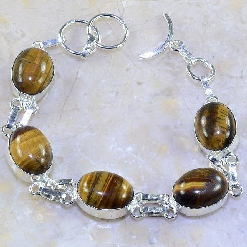Ot 7854a bracelet oeil de tigre argent 925 achat vente bijoux